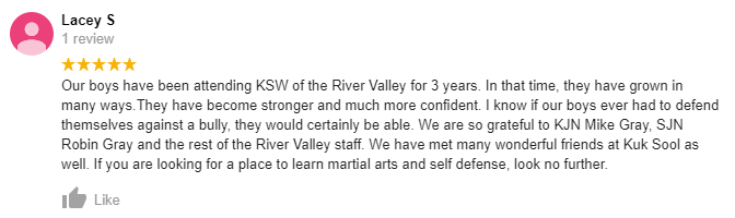 Kids4, Kuk Sool Won of the River Valley Family Martial Arts Center